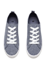Twill trainers - Blue melange - Ladies | H&M CA 2